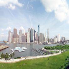 A cidade de nova Iorque com a ajuda da população vai ganhar uma piscina flutuante entitulada de Pool+ que ajuda a despoluir o rio em pleno East River.