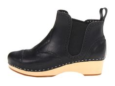Swedish Hasbeens Chelsea Debutant Black/Nature Sole - Zappos.com Free Shipping BOTH Ways