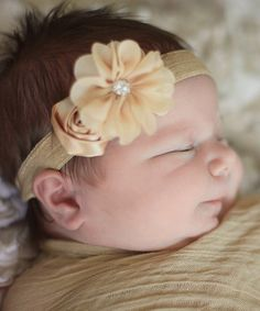 Take a look at the Olivia Rae Beige Swaddle Wrap & Headband on #zulily today!
