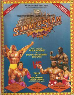 1989 WWF SummerSlam Promotional Poster