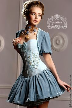 """Corset dress """"Versailles"""" - the final in 2013, blue, gold, Versailles, Princess"""