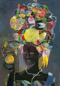 ⊰ Posing with Posies ⊱ paintings of women and flowers - Olaf Hajek - Flowerhead Bride