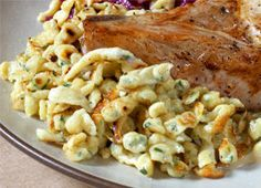Herbed Spätzle // We hadn't figured out that frying in butter is part of the Spätzle-making process until we read this recipe. If you want to do it authentically you need to fry it in a cast iron skillet then top with cheese and melt under the broiler.