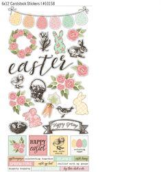 Happy Easter 6x12 Cardstock Sticker