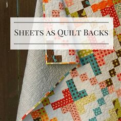 Meadow Mist Designs: Flat Sheets as Quilt Backings