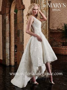 High-Low Embroidered Wedding Dress MB3028. Mary s BridalBridal Wedding  DressesTulle LaceLace ... 20d09bd0deed