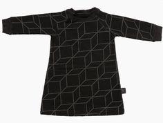 #nununu grid a dress sweat black