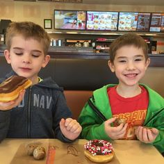 Donut date with my favorite little men!