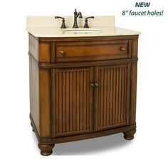 View the Elements VAN029-T-MC Compton Collection 32 Inch Single Sink Bathroom Vanity Cabinet with Counter Top and Bowl at Build.com.