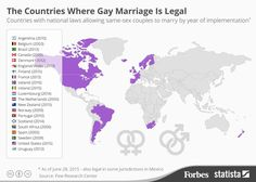this pie chart shows that any consequences that people  the countries where gay marriage is legal