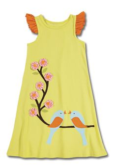 Love bird applique dress by Sam and Sydney