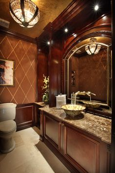 House Beautiful ~ Gorgeous powder room by Brown's Interior Designs