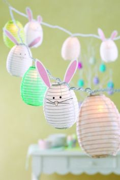 Tag Bunny and Egg Paper String Lights, 112-Inches Long:Amazon:Home & Kitchen