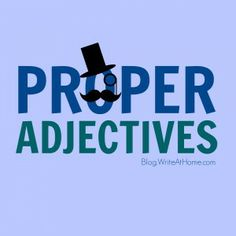 What is a proper adjective?