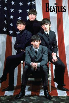 BEATLES U.S. FLAG 24 x 36 POSTER [3183] - $9.50 : Beatles Gifts, The Fest for Beatles Fans