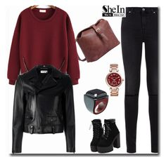 """Shein"" by abecic ❤ liked on Polyvore featuring 7 For All Mankind, Michael Kors, Yves Saint Laurent and Marni"