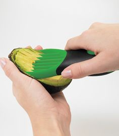 Split, pit, slice and scoop avocados with this 3-in-1 Avocado Tool from Culinary Apple