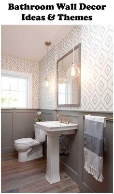 Best Modern Farmhouse Bathroom Design Ideas And Remodel To Inspire Your Bathroom - Page 50 of 114 - Abidah Decor Wainscoting Bathroom, Bathroom Flooring, Wainscoting Height, Wainscoting Ideas, Basement Bathroom, Lowes Bathroom, Bathroom Interior, Redo Bathroom, Bathroom Cladding