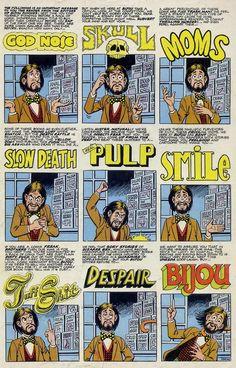 1974 Shazam Award, Best Inker (Humor Division): Ralph Reese  Back cover of Bijou #8