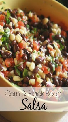 I love this 10 minute easy appetizer! Texas Caviar Recipe (Black bean and sweet corn salsa) Absolute best side dish for potlucks!