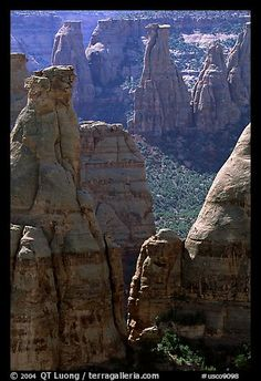 Spires. Colorado National Monument, Colorado, USA (color)-just outside of Grand Junction on the Western slope