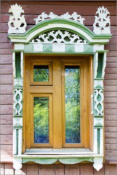 Kostroma city, Russia windows frames view 1 @ http://russiatrek.org/blog/tag/window-frames/