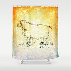 Draw me a sheep Shower Curtain by Escrevendo e Semeando - $68.00