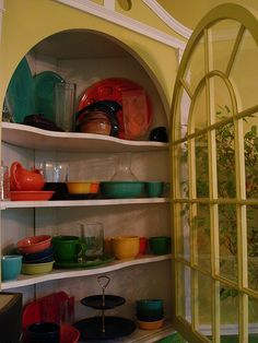I like how the FiestaWare looks in this picture.  I only have 4 place settings though, so will have to buy more or mix with white.