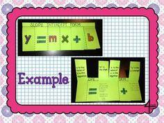 Slope Intercept Form Flippable and Practice for Interactive Notebooks Teacher Tools, Math Teacher, Math Classroom, Teaching Math, Teacher Stuff, Interactive Student Notebooks, Math Notebooks, Math Resources, Math Activities