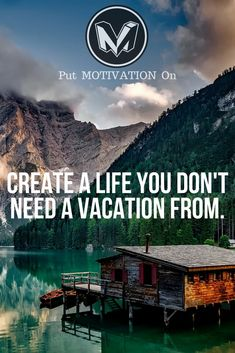 Create your vacation life. Follow all our motivational and inspirational quotes. Follow the link to Get our Motivational and Inspirational Apparel and Home Décor. #quote #quotes #qotd #quoteoftheday #motivation #inspiredaily #inspiration #entrepreneurship