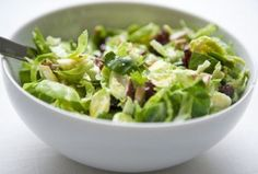 Raw Vegan Shredded Brussels Sprouts Salad