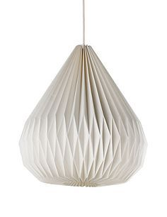 pleated paper ceilingshade - Google Search
