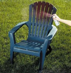 DIY....spruce up your plastic lawn furniture for this summer