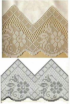 Letras e Artes da Lalá: Barrados em crochê (fotos: google)