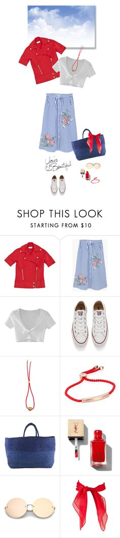 """1540"" by m-lane ❤ liked on Polyvore featuring Sonia by Sonia Rykiel, MANGO, WithChic, Converse, Ruifier, Monica Vinader and Far + Wide Collective"