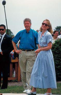 Bill and Hillary Clinton, 1992.