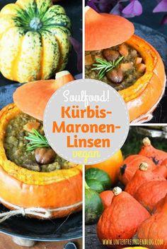 Herzhaft, lecker und vegan! Der Kürbis-Linsen-Maronen-Eintopf ist Soulfood vom Feinsten, yummy! (scheduled via http://www.tailwindapp.com?utm_source=pinterest&utm_medium=twpin)