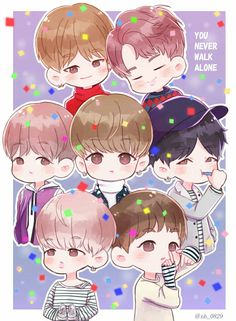 Cute chibi bts members P.S. That's too cute