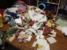 FABRIC THERAPY: STASH ORGANIZATION: Part 2 - TAMING THE SCRAP PILES