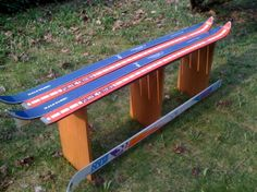 Simple ski benches can help keep 'em out of the landfill.
