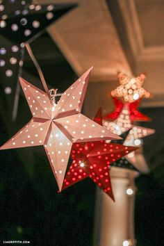 Paper Cut Star Garland, perfect for 4th of July or outdoor summer parties.