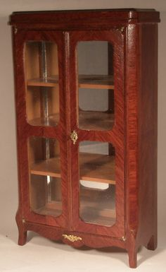 Vitrine by Herbillon - $1,295.00 : Swan House Miniatures, Artisan Miniatures for Dollhouses and Roomboxes