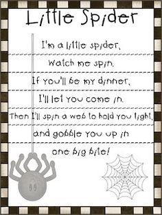 First Grade Fanatic!: Spider Poem