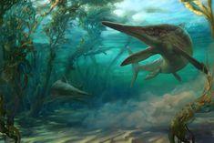 Ichthyosarus  pervushovisaurus bannovkensis by Alexander Smentsarev on ArtStation
