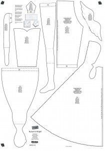 pattern for Tilda doll with a coat
