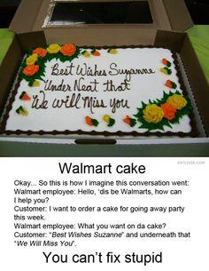 Walmart cake
