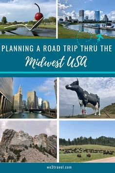 Midwest road trip itinerary for spending two weeks exploring the midwest and Central States including Chicago Milwaukee Minneapolis North Dakota South Dakota Omaha and Iowa. Road Trip With Kids, Family Road Trips, Family Vacation Destinations, Travel Destinations, Vacation Ideas, Family Vacations, Vacation Travel, Cruise Vacation, Road Trip Usa