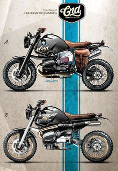 Nice BMW GS concepts from Holographic Hammer for CRD.