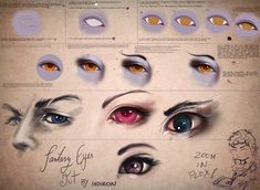 Tutorial: hot mess of fantasy eyes by *Indiron on deviantART