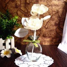 DIY perfume reeds + Sola wood flower